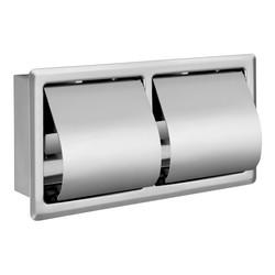 Artema - Artema Arkitekta Ankastre Tuvalet Kağıtlığı Kapaklı İkili Paslanmaz Çelik A44416
