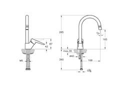 Artema Solid S Eviye Bataryası Mafsallı A42148 - Thumbnail
