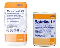 Basf - Basf MasterSeal 589 İki Bileşenli Negatif - Pozitif Yönden Uygulanabilen Tam Esnek Su Yalıtım Malzemesi 35 kg set