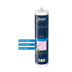 Bostik - Bostik WeatherSeal Nötral Cephe Silikonu Siyah 300 ml kartuş 25 adet koli