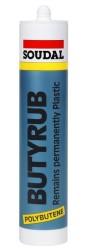 Soudal - Soudal Butyrub Butilen Polimer Bazlı Buhar Yalıtımlı Mastik 300 ml Gri