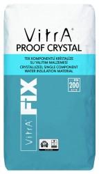 Vitra Fix - Vitra Fix Proof Crystal Tek Komponentli Kristalize Su Yalıtım Malzemesi Gri 25 kg