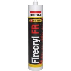 Soudal - Soudal Firecryl FR Yangına Dayanıklı ve Yangın Geciktirici Akrilik Mastik 310 ml Beyaz