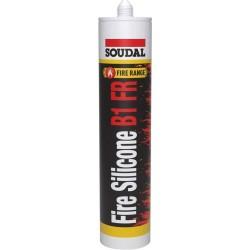 Soudal - Soudal Firesilicone B1 FR Sertifikalı Yangına Dayanıklı ve Yangın Geciktirici Silikon 310 ml