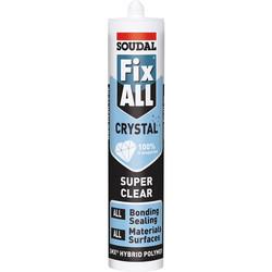 Soudal - Soudal Fix All Crystal Çok Güçlü MS Polimer Yapıştırıcı 290 ml Kristal Şeffaf 12 adet koli