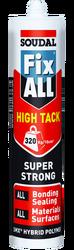 Soudal - Soudal Fix All High Tack Çok Güçlü MS Polimer Yapıştırıcı 290 ml 12 adet koli
