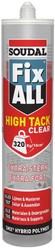 Soudal - Soudal Fix All High Tack Çok Güçlü MS Polimer Yapıştırıcı 290 ml Şeffaf 12 adet koli