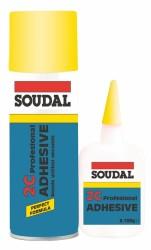 Soudal - Soudal Hızlı Yapıştırıcı 2C 200 ml + 50 gr Şeffaf 30 adet koli
