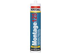 Soudal - Soudal Montage 125 Akrilik Yapıştırıcı 310 ml Beyaz 30 adet koli