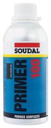 Soudal - Soudal Primer 100 Sentetik Reçine Poliüretan ve Hibrit Yüzey Dolgu Astarı 500 ml Şeffaf 6 adet koli