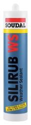 Soudal - Soudal Silirub WS+ Nötr Ultra Esnek Dış Cephe Silikonu 300 ml kartuş Siyah 24 adet koli
