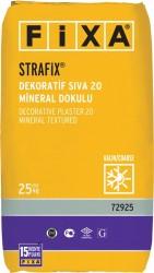 Fixa - Fixa Strafix Dekoratif Sıva 20 Mineral Dokulu Beyaz Kalın 25 kg