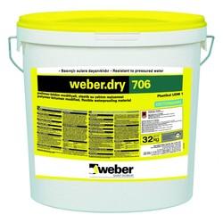 Weber - Weber Dry 706 Polimer Modifiye Bitüm Kauçuk Esaslı Su Yalıtım Malzemesi 32 kg kombi set