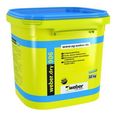 Weber Dry 906 Polimer Modifiye Bitüm Kauçuk Esaslı Su Yalıtım Malzemesi 32 kg kombi set
