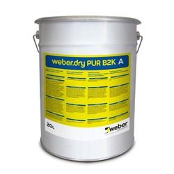 Weber - Weber Dry PUR B2K Bitüm-Poliüretan Esaslı Süper Elastik Su Yalıtım Ürünü 40 lt set