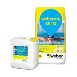 Weber - Weber Dry SS-10 Çimento Esaslı Çift Komponentli Tam Elastik Su Yalıtım Harcı 30 kg set