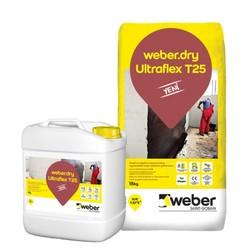Weber - Weber Dry Ultraflex T25 Süper Elastik Sülfat Klor Toprak Kimyasalları ve Deniz Suyuna Dirençli Su Yalıtım Harcı 30 kg set