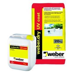 Weber - Weber Dry UV Coat Çimento Esaslı Çift Komponentli Geliştirilmiş UV Dayanımlı Elastik Su Yalıtım Harcı 30 kg set