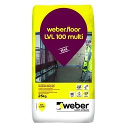 Weber - Weber Floor LVL 100 Multi Kendiliğinden Yayılan Elyaf Takviyeli Kalın Tesviye Şapı 25 kg