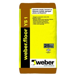 Weber - Weber Floor YS 1 Çimento Esaslı Silisyum Karbür Agregalı Yüzey Sertleştirici 25 kg