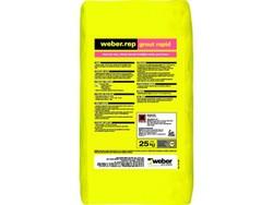 Weber - Weber Rep Grout Rapid Hızlı Priz Alan Yüksek Akıcılık Özelliğine Sahip Grout Harcı Gri 25 kg