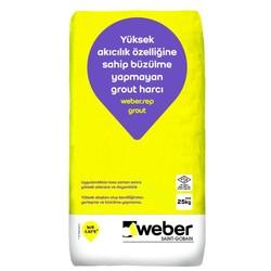 Weber - Weber Rep Grout Yüksek Akıcılık Özelliğine Sahip Büzülme Yapmayan Grout Harcı Gri 25 kg