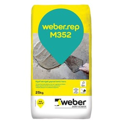 Weber - Weber Rep M352 Elyaf Takviyeli Yapısal Tamir Harcı Gri 25 kg