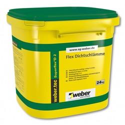 Weber - Weber Superflex D 2 Çimento Esaslı Çift Komponentli Yüksek Elastikiyete Sahip Hızlı Priz Alan Su Yalıtım Harcı 30 kg set